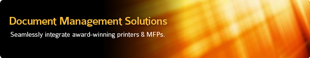 Award-winning printers and document management solutions